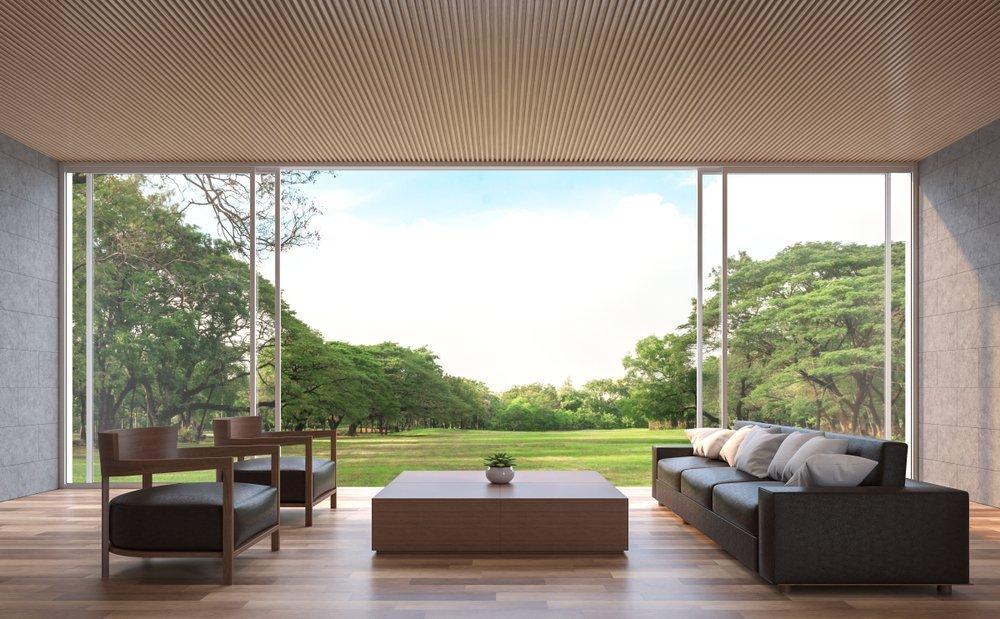 White sunflex sliding doors in a new home