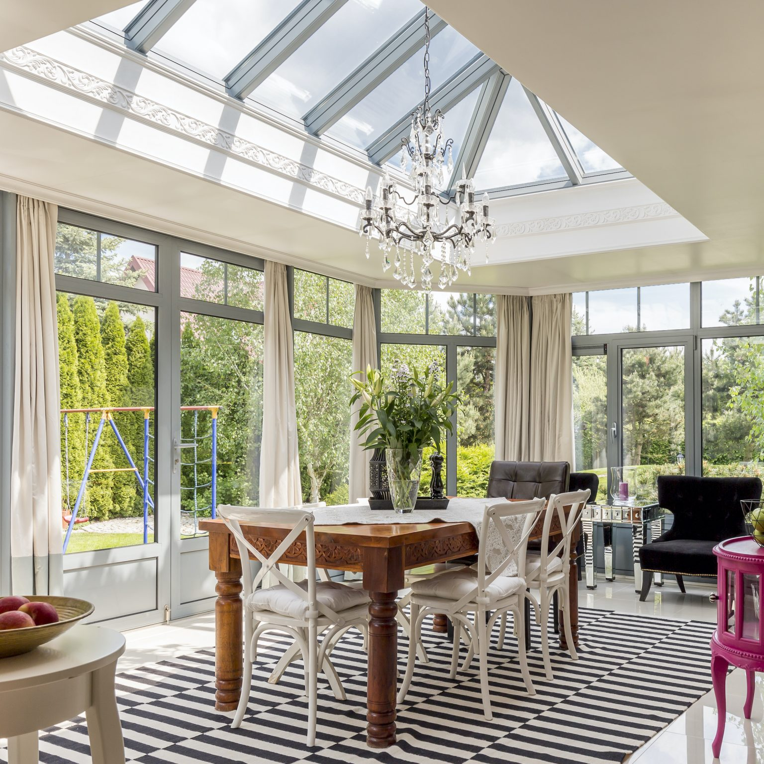 lantern roofs in large house