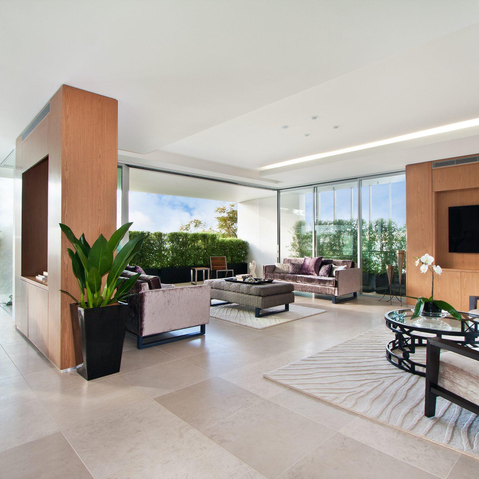 aluminium sliding doors in a new home