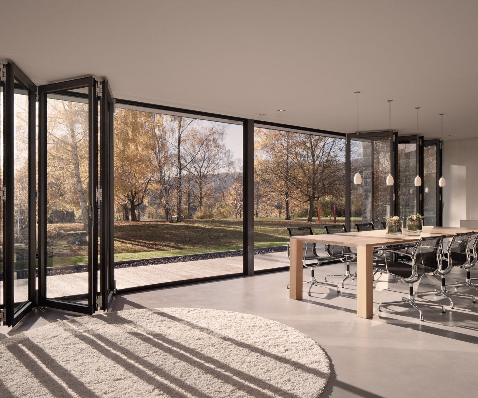 black solarlux ecoline bifolding doors