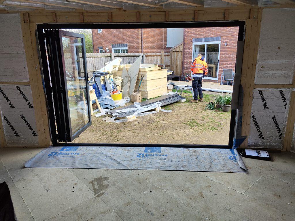 Bifolding doors for garden rooms