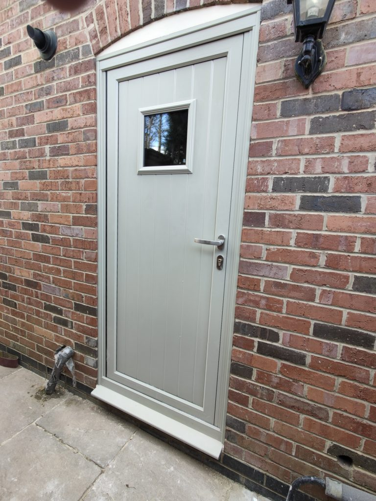 Aluminium front door in Rutland