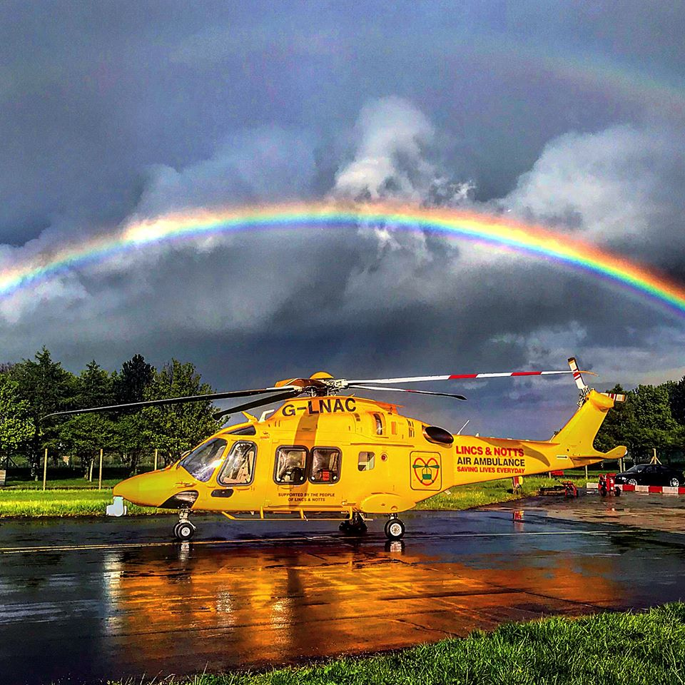 image of Lincs and Notts Air Ambulance air ambulance helicopter