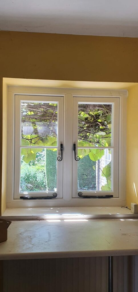 PVCu window in the style of classic wood windows