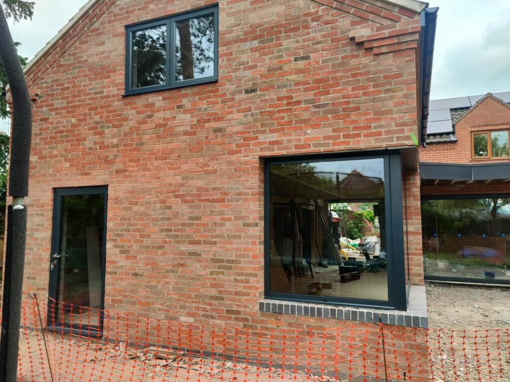 new house with grey modern windows