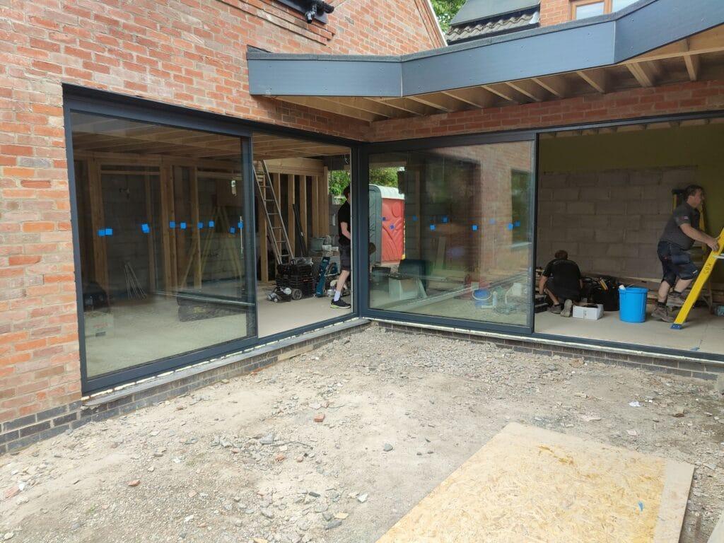 minimal sliding doors in Rutland in a corner design